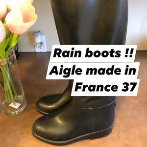 AIGLE RAIN BOOTS 37 FRANCE